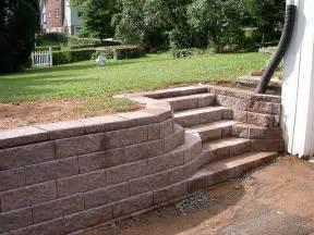 Retaining Wall Stairs Ideas retaining wall steps retaining walls pinterest