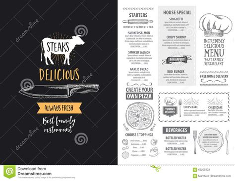 restaurant flyer design vector restaurant cafe menu template design food flyer cartoon