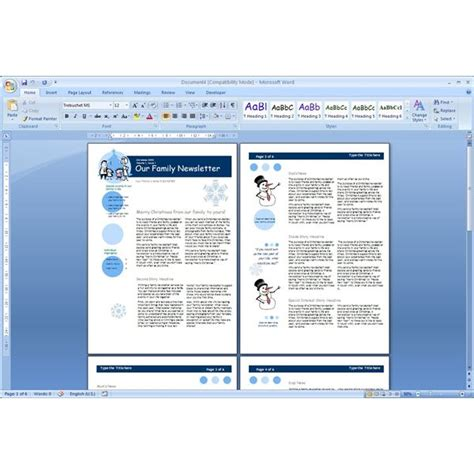 word newsletter template search results for family newsletter templates word