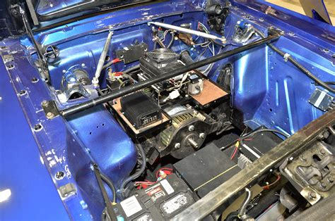 car engine manuals 2007 ford mustang electronic toll collection sema 2013 larry gareffa s home built electric 1965 ford mustang fastback mustang news