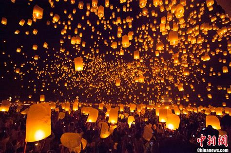 lanterns shine like during festival of light in thailand