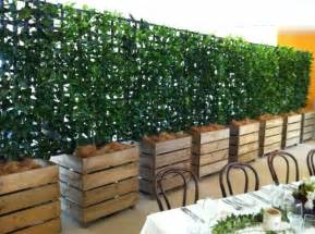 office building trellis with vines for privacy