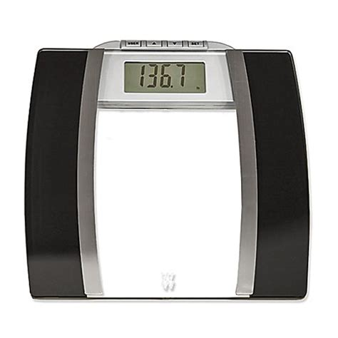 bed bath beyond bathroom scale weight watchers 174 by conair glass body analysis bathroom