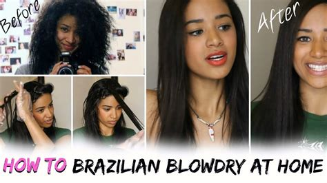 how to blowdry keratin treat your hair at