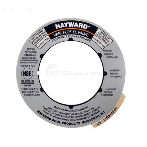 pool filter settings diagram hayward sp0714t valve decal spx0714g inyopools