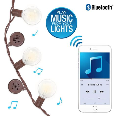string lights with speakers bright tunes 12 warm white bluetooth speaker outdoor