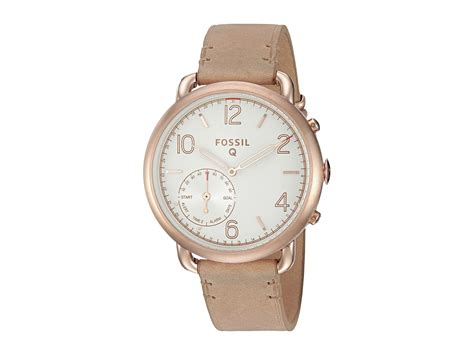 Fossil Kulit Rosegold fossil q q tailor hybrid smartwatch ftw1129 gold sand leather zappos free shipping