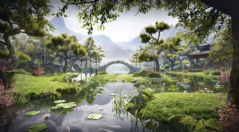 creating a meditation garden by s 233 rgio mer 234 ces 3ds max photoshop v ray tutorial from