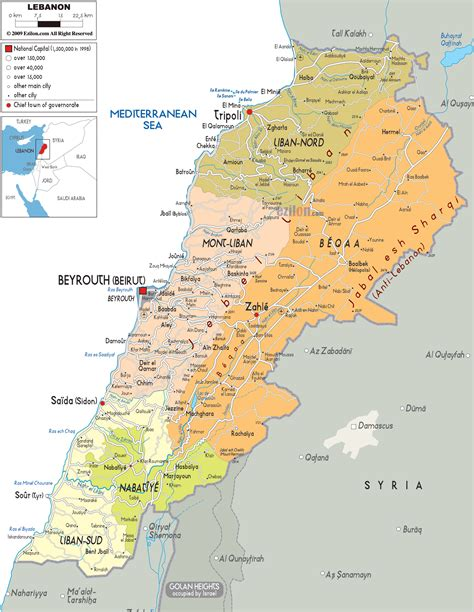 map world lebanon maps of lebanon detailed map of lebanon in
