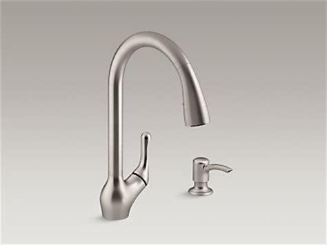 Badge Faucet Kohler K R776 Sd Vs Barossa Pull Kitchen Sink