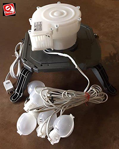 replacing lights in inflatables gemmy inflatable replacement fan blower with 5 lights and