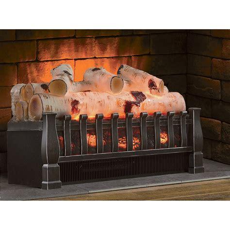 duraflame birch electric log insert heater 4600 btu