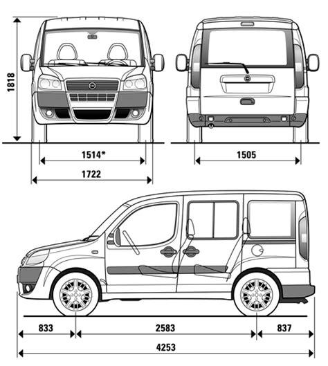 Fiat Doblo Dimensions Doblo Kango Partner F莢at Volswagen窶ヲ Kapali Kasa Panelvana