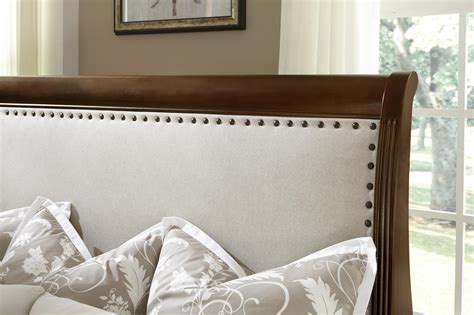 low profile king headboard vaughan bassett market king bed w upholstered headboard low profile footboard hudson