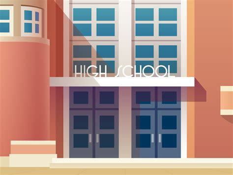 art deco colors art deco high school in color by steve lowtwait dribbble