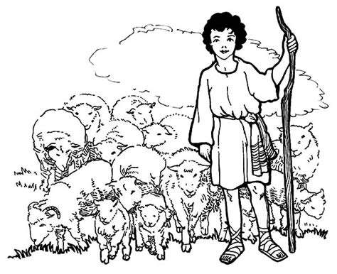 david shepherd boy coloring pages bible coloring pages
