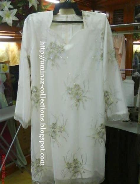 Baju Ngatung Pendek uminaz collections kurung moden fabrik lace