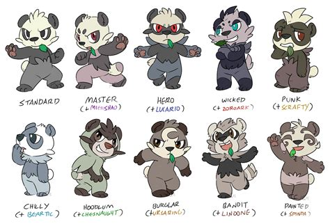 Or Variations Crossbreeding Variants Pancham Pok 233 Charms