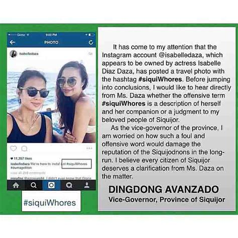 isabelle daza responds to vice gov dingdong avanzados request vice governor dingdong avanzado wants isabelle daza to