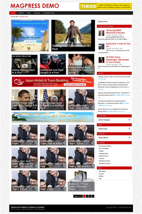 redina wordpress theme magpress com