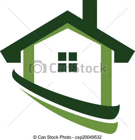green house real estate vectors of green house real estate image logo csp20049532 search clip art