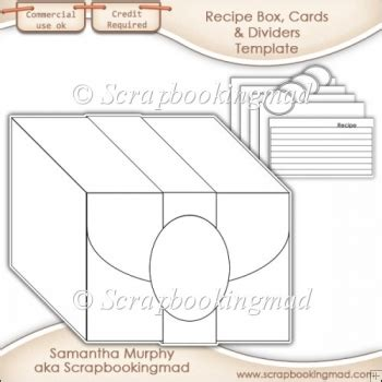 Template For Recipe Card Dividers by Recipe Box Cards Dividers Template Cu Ok 163 3 50