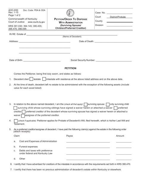 Kentucky Demand Letter letter of testamentary kentucky the best letter