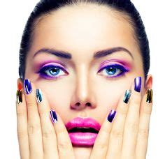 7 Fabulous Nail Trends To Try This Season by Portrait With Makeup And Colorful Nail