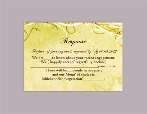 Rustic Rsvp Card Template Free by Diy Rustic Wedding Rsvp Template Editable Word File