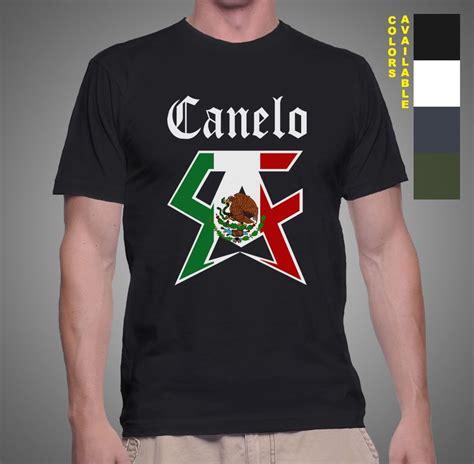 Kaos Canelo Alvarez With Flag Boxing new canelo logo saul alvarez boxing ch mexican symbol s t shirt glove ebay