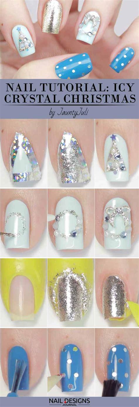 tutorial nail art journal 10 charming christmas nail art tutorials you ll adore