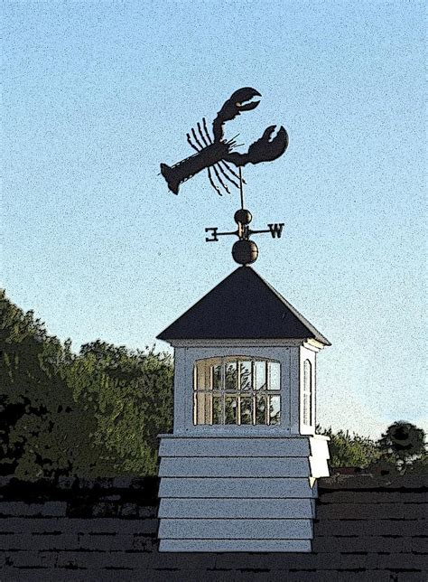 Cupola Maine lobster weathervane on white cupola boothbay harbor maine photograph by sundik