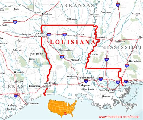 us map louisiana louisiana maps