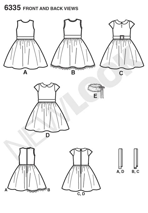 pattern review best of 2014 new look 6335 child s dress and faux fur collar sewing pattern