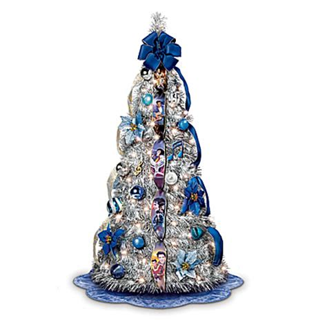 pre decorated pull up tree the elvis blue pull up tree pre lit and pre decorated ebay