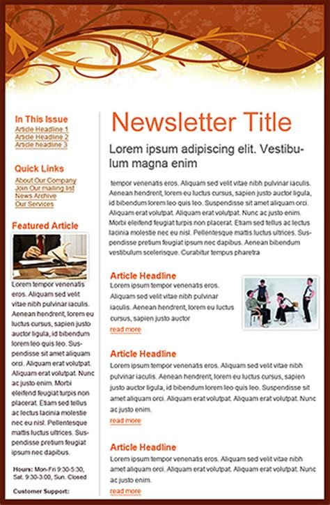 benchmark email email template newsletter autumn header