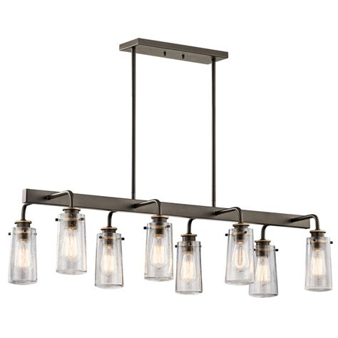 kichler island lighting kichler 43457oz braelyn modern olde bronze island lighting