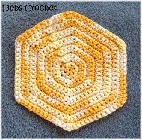 pattern crochet hexagon debs crochet solid hexagon pattern crochet motif