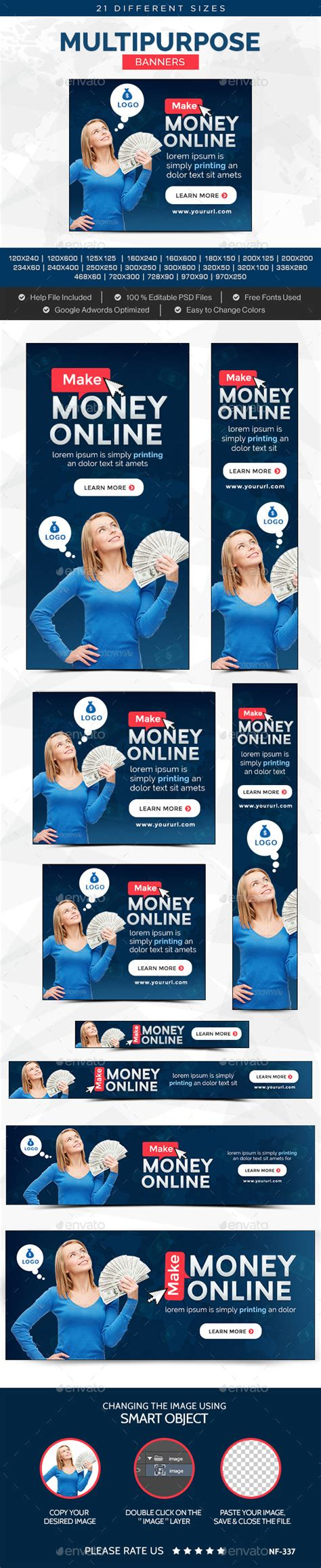 Make Money Online Banner - make money online banners by doto graphicriver