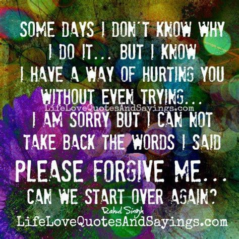 please take me back quotes