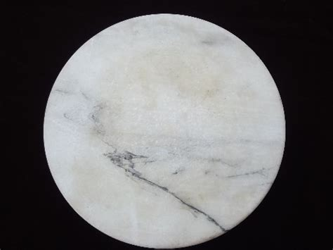 White marble alabaster cheese board tray, round lazy susan