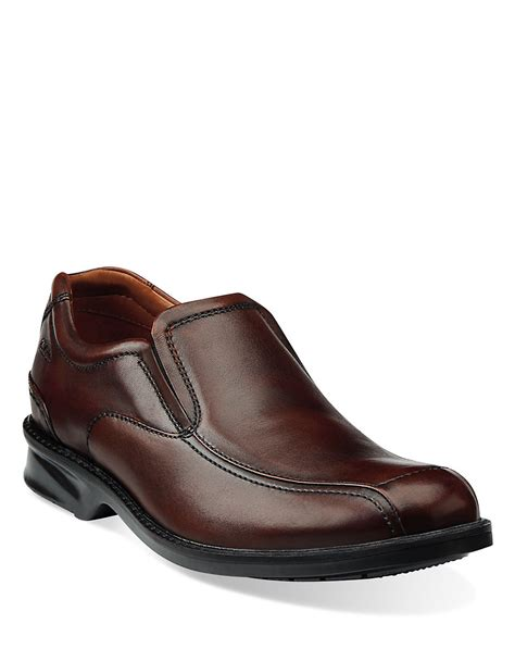 clark loafers clarks colson knoll leather loafers in brown for lyst