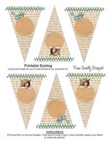 vintage bunting template sweetly scrapped free printable bunting