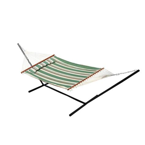 Cotton Hammock With Stand Vivere 9 Ft Cotton Hammock With Stand In Tropical