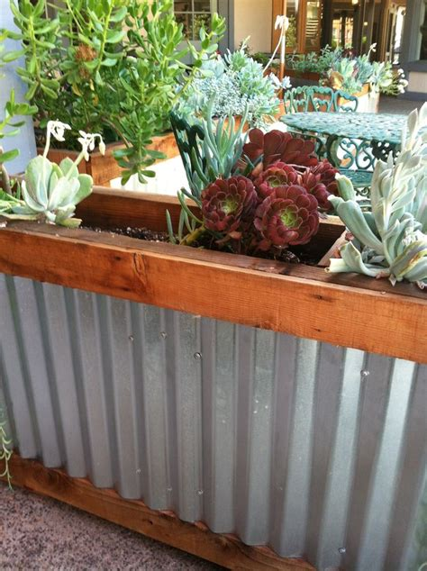 Corrugated Iron Planters corrugated metal planter box corrugated