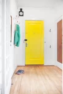 bright yellow door how to decorate your home using yellow