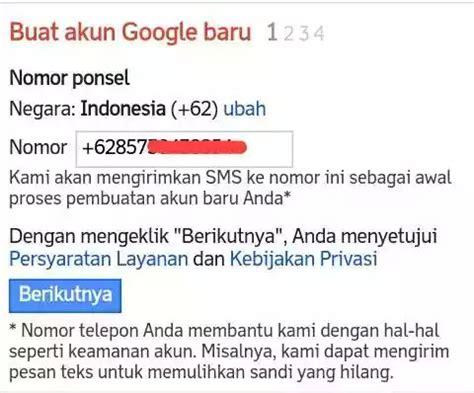 buat akun gmail tanpa nomor ponsel daftar gmail