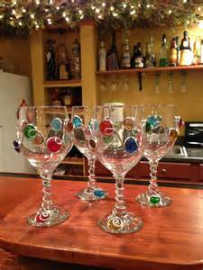 Decorated Wine Glasses Items Similar To Decorated Wine Glass Or Chagne Flute