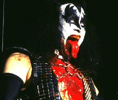 Gene Simmons My Bloody Bags by The 13 Scariest Bands Of All Time Lists Paste