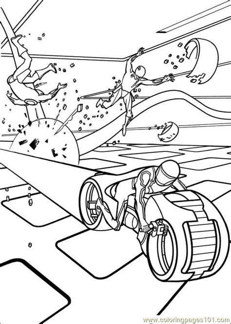 coloring pages tron 38 cartoons gt others free
